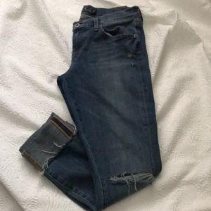 Lucky brand cuffed ankle jeans 6/28 skinny